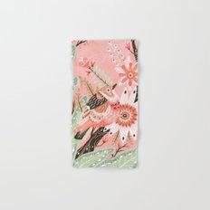Little Pink Bird Hand & Bath Towel