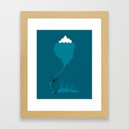 The Diver and his Balloon Framed Art Print