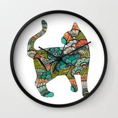 Vegetarian cat Wall Clock