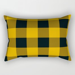 Yellow & Black Buffalo Plaid Rectangular Pillow