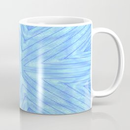 Turquoise & Blue Paper Snowflakes Coffee Mug