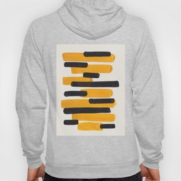 Mid Century Modern Abstract Painting Antique Yellow Black Bumble Bee Stripes Hoody