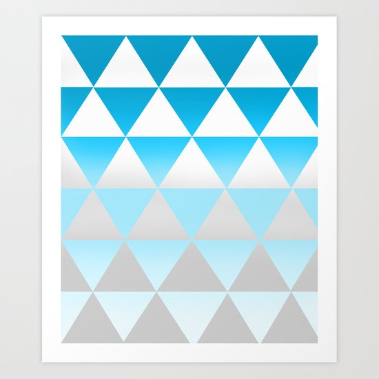 Ombre Triangles Art Print