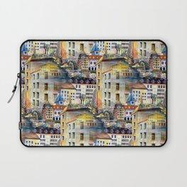 Gamla Stan Old City Stockholm Sweden Architectural Watercolor Landscape Laptop Sleeve