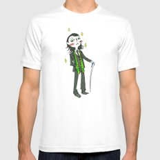 Loki (in Suit) (the Avengers) Mens Fitted Tee MEDIUM White