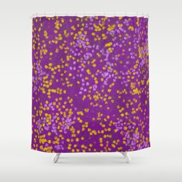 Field of Purple and Yellow Shower Curtain