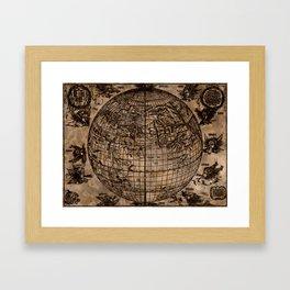 Vintage Old World Map Design Framed Art Print