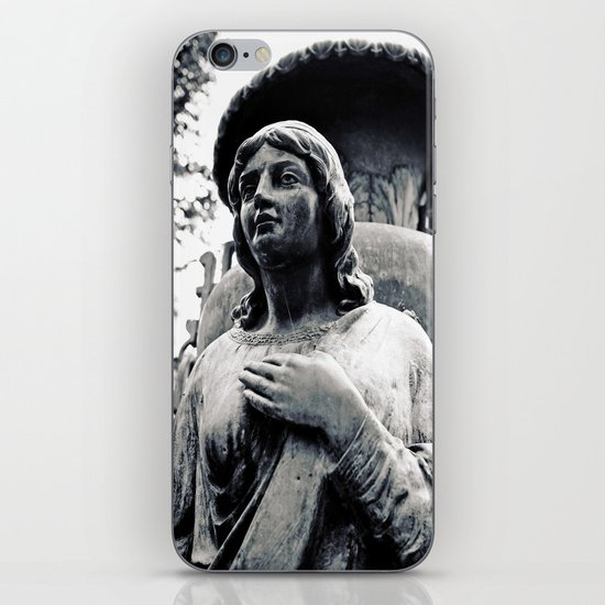 Hand on her heart iPhone & iPod Skin