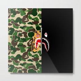 Bape Tiger Shark Metal Print