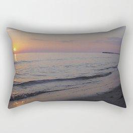 Sunset Beach Waves Rectangular Pillow