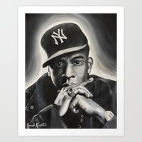 jay z Art Prints featuring Jay-Z by Sarah Painter