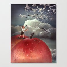 Climbing towards the heavens - From James and the Giant Peach - By Roland Dahl Canvas Print