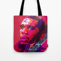 greg guillemin Tote Bags featuring GREG ODEN MIAMI HEAT by mergedvisible