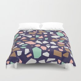 Colorful Modern Terrazzo Vector Pattern Duvet Cover