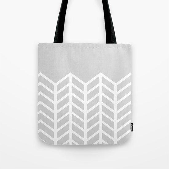 LACE CHEVRON (GRAY) Tote Bag