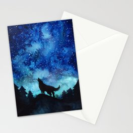 Wolf Galaxy Stationery Cards