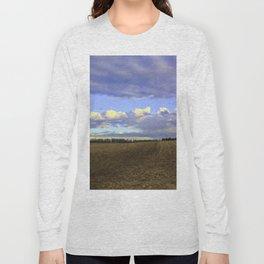 Farm Fields In Frederick Maryland In Winter Long Sleeve T-shirt