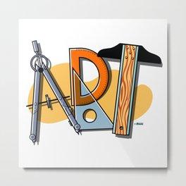 A-R-T Spells Art! Metal Print
