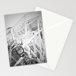 Beach Stairs on the Cliff Stationery Cards