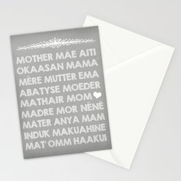 Mom In Many Languages Stationery Cards