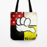 minnie Tote Bags featuring Mediocre Minnie  by LNTCREATIONS