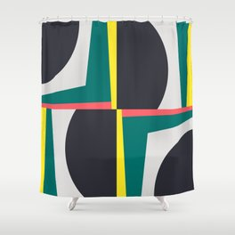 Modern Geometric 65 Green Shower Curtain