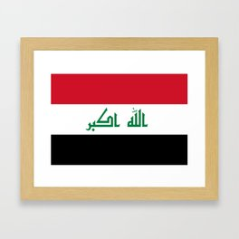 Iraq flag Framed Art Print