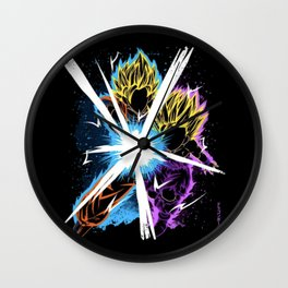 The Father Supporting The Son! Wall Clock