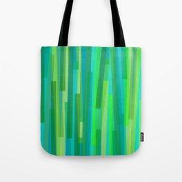 Geometric Green Painting Tote Bag