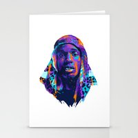 asap rocky Stationery Cards featuring NEXTGEN RAPPERS: ASAP ROCKY by mergedvisible