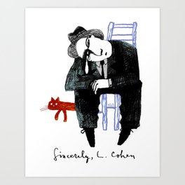 Sincerely, L. Cohen Art Print