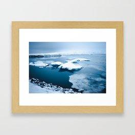 Iceland - Floating Icebergs Framed Art Print