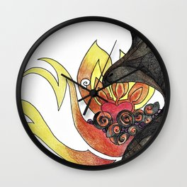 Ash and Flame Wall Clock