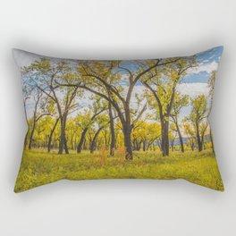 Cottonwoods, Theodore Roosevelt NP, ND 3 Rectangular Pillow