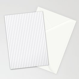 Soft Grey Mattress Ticking Narrow Striped Pattern - Fall Fashion 2018 Stationery Cards