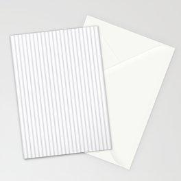Soft Grey Mattress Ticking Narrow Striped Pattern - Fall Fashion 2018 Stationery Cards