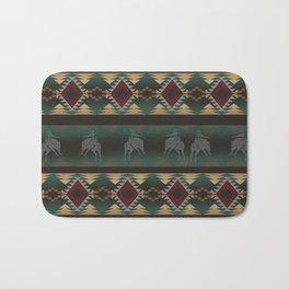 southwest stripe with horses Bath Mat