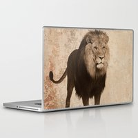 decal Laptop & iPad Skins featuring Lion by haroulita