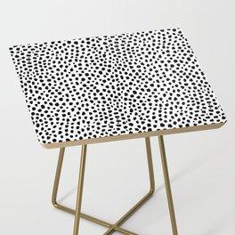 Dalmatian Spots (black/white) Side Table