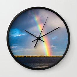 Magnificent rainbow Wall Clock