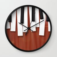 jazz Wall Clocks featuring Jazz by Rceeh