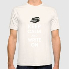 Keep Calm and Write On Natural Mens Fitted Tee SMALL