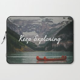 Keep Exploring with Canoes Laptop Sleeve