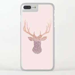 ROSEGOLD DEER BLUSH Clear iPhone Case