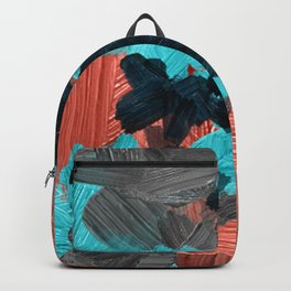 40  | Abstract Expressionism| 210210| Digital Abstract Art Textured Oil Painting Backpack