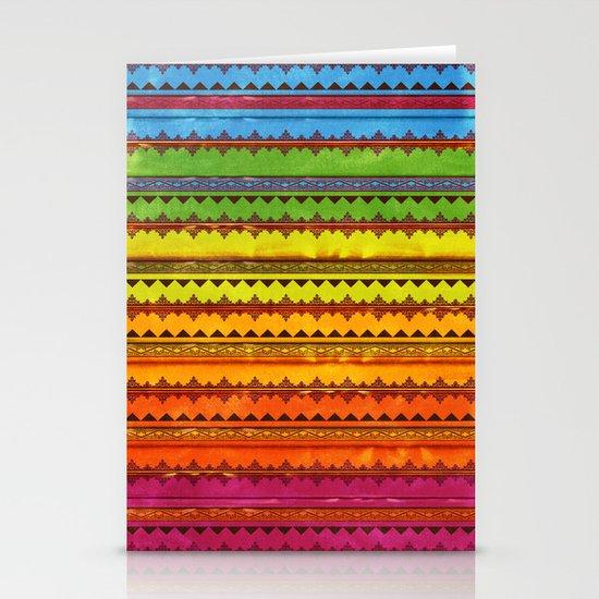 Hippie Style Pattern Stationery Cards