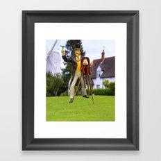 Photographer at work Framed Art Print