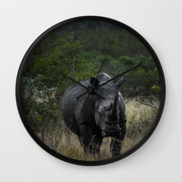 White Rhino Early Morning Wall Clock