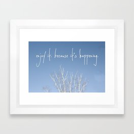 perks of being a wallflower - life is happening Framed Art Print