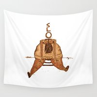 sloth Wall Tapestries featuring Sloth by Luka